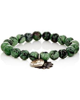 Ruby Zoisite Bead & Charm Bracelet