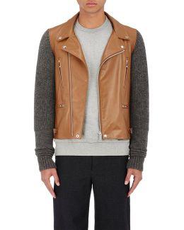 chaos Leather & Wool Moto Jacket