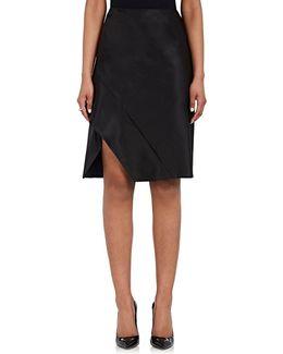 Silk Satin Asymmetric Miniskirt