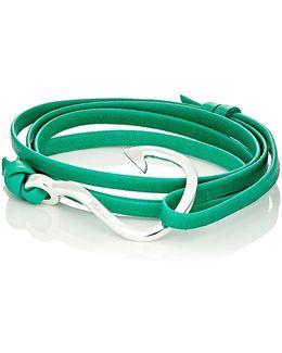 Hook On Leather Wrap Bracelet