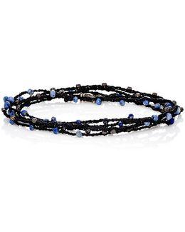 Sodalite & Silk Wrap Bracelet