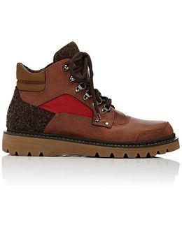 Lug-Sole Leather Hiking Boots