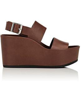 Idalia Leather Platform-wedge Sandals