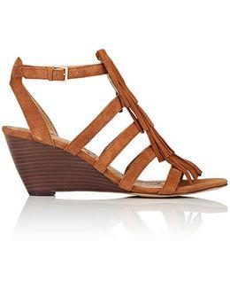 Sandra Suede Wedge Sandals