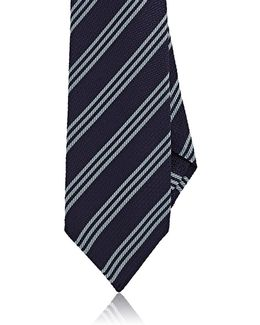 Triple Repp Silk Necktie