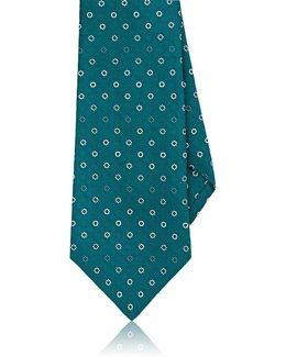 Geometric Floral Silk Jacquard Necktie