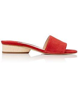 Lina Suede Slide Sandals