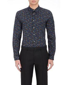 Abstract Paisley Poplin Shirt