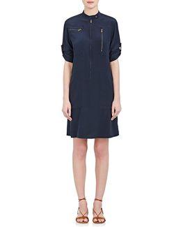 Silk Crêpe De Chine Tunic Dress