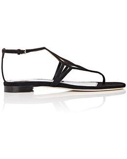 Monoblocco Suede Sandals