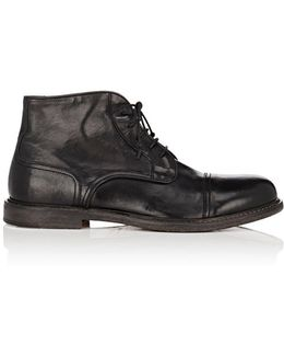 Washed Leather Chukka Boots