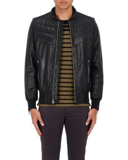 Gallagher Leather Bomber Jacket