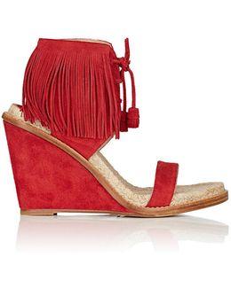 Shantou Suede Wedge Sandals