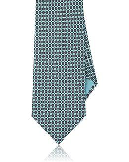 Medallion Silk Foulard Necktie