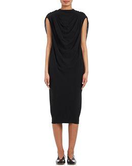 Claudette Draped Silk Dress