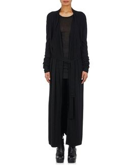 Cashmere Knit Long Belted Bathrobe