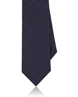 Striped Herringbone Silk Necktie
