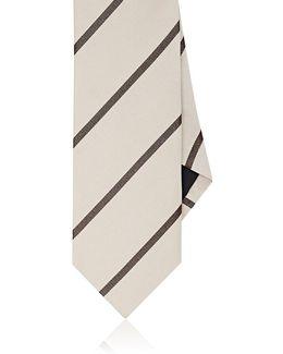 Striped Silk Faille Necktie