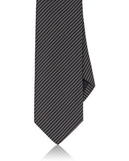 Pinstriped Silk Necktie