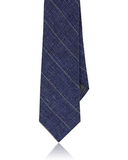 Striped Linen Necktie