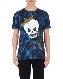 Skull-print Cotton T