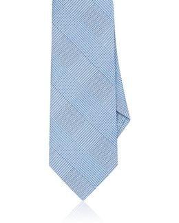 Prince Of Wales Plaid Silk Necktie