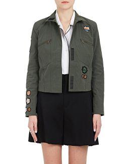 Appliquéd Stretch Jacket