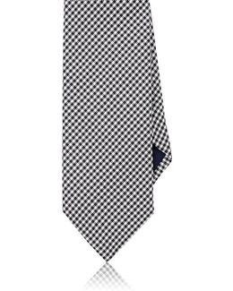 Checked Silk Necktie