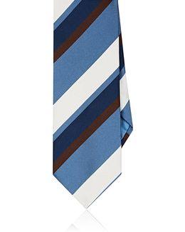 Striped Satin Necktie