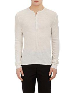 Merino Wool Henley Sweater