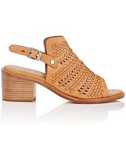 Wyatt Woven Leather Slingback Sandals