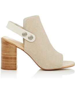 Leigh Canvas Slingback Sandals