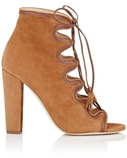 Angelica Suede & Leather Ankle Boots