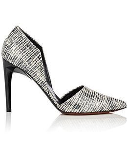 Textured Leather D'orsay Pumps