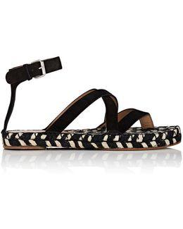 Suede Espadrille Sandals