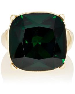 Green Crystal Cocktail Ring