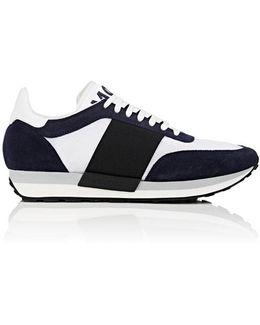Suede & Mesh Sneakers