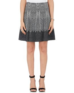 Optic Lines Flared Skirt