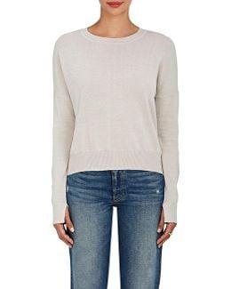 Pima Cotton Scoopneck Sweater