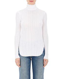Striped Cotton Turtleneck Shirt