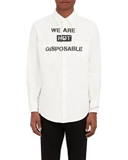 we Are Not Disposable Denim Workshirt