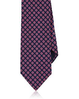 Floral Silk Faille Necktie