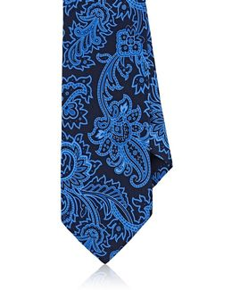 Paisley Silk Satin Necktie