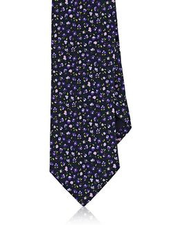 Floral Silk Satin Necktie