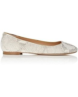 Cambridge Stamped Leather Flats