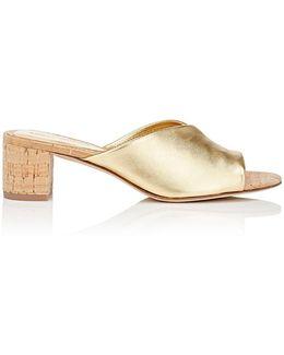 Faleria Leather Slide Sandals