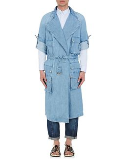 Denim Belted Trenchcoat