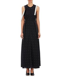 Kensett Polka Dot Silk Maxi Dress & Column Dress