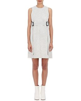 Kyra Tris L Polka Dot Leather Sheath Dress