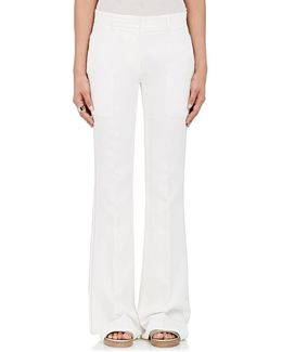 Embroidered Flared Trousers